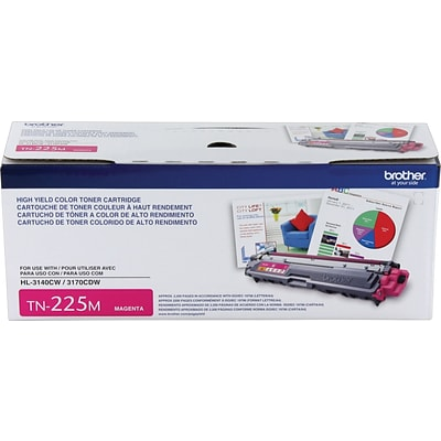 Brother Genuine TN225M Magenta High Yield Original Laser Toner Cartridge