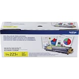 Brother TN 225Y Yellow Toner Cartridge, High Yield