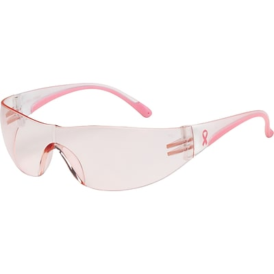 Bouton® Optical Safety Glasses, Eva™, Pink/Clear Frame, Light Pink Lens, Anti-scratch Coating