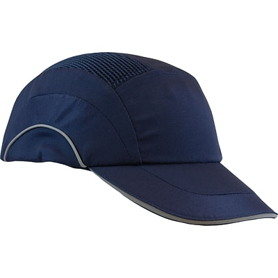 Protective Industrial Products Safety Caps, Head Cap A+1 Bump Cap, Baseball Style 2-3/4 Brim, Blue