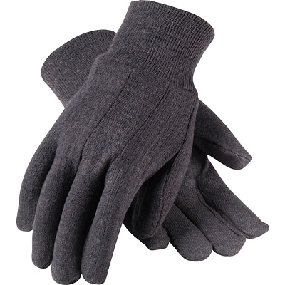 PIP® Knit Work Gloves, Cotton Jersey With Knit Wrists, One Size, 1 Dozen