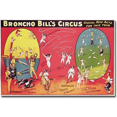 Trademark Global Broncho Bills Circus, Brimingham, 1890s Canvas Art, 30 x 47