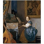 Trademark Global Jan Vermeer A Young Lady Seated at a Virginal Canvas Art, 32 x 26