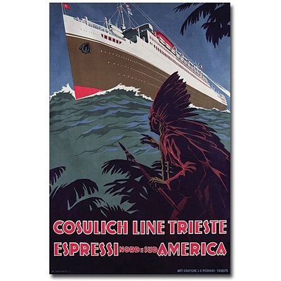 Trademark Global Cosulich Line Canvas Art, 24 x 16