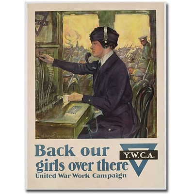 Trademark Global Clarence Underwood Back Our Girls Over There, 1918 Canvas Art, 24 x 18