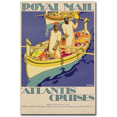 Trademark Global Kenneth Shoesmith Atlantis Cruises, 1930 Canvas Art, 24 x 16
