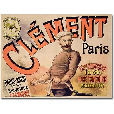 Trademark Global Clement Bicycles, 1889 Canvas Art, 18 x 24