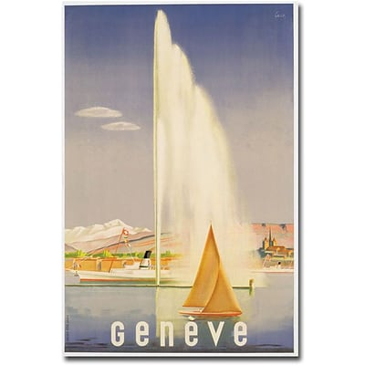 Trademark Global Fehr Geneva, 1937 Canvas Art, 24 x 16