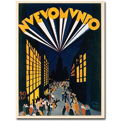 Trademark Global Ochoa Nuovo Mondo Tadio City 1928 Canvas Art, 32 x 24