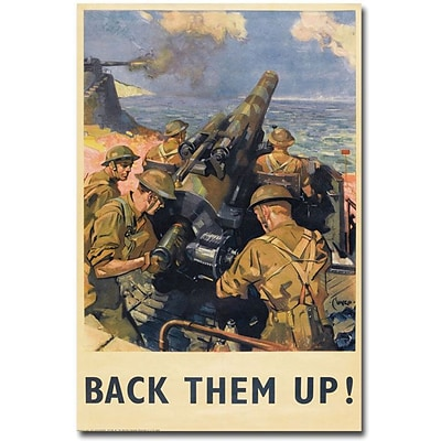 Trademark Global Back Them Up 1941 Canvas Art, 24 x 16