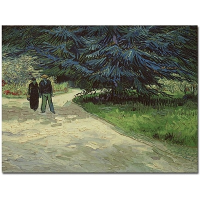 Trademark Global Vincent Van Gogh Couple in the Park Arles, 1888 Canvas Art, 26 x 32