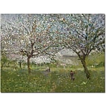 Trademark Global Ernest Quost Apple Trees in Flower Canvas Art, 26 x 32