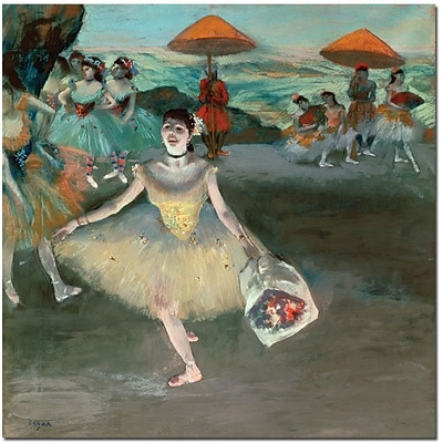 Trademark Global Edgar Degas Dancer with Bouquet, 1877 Canvas Art, 24 x 24