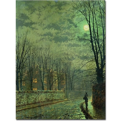 Trademark Global John Atkinson Grimshaw Going Home by Moonlight Canvas Art, 24 x 18