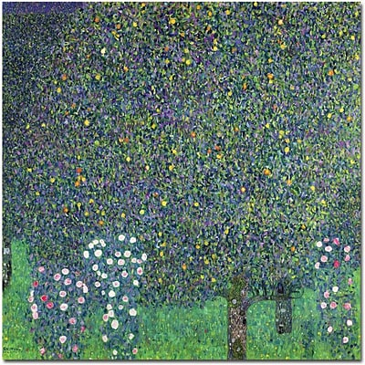 Trademark Global Gustav Klimt Roses Under the Trees, 1905 Canvas Art, 35 x 35
