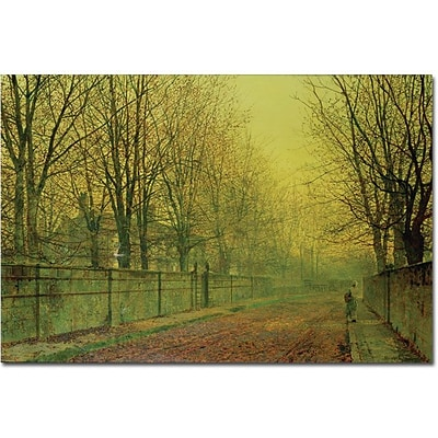 Trademark Global John Atkinson Grimshaw In the Golden Glow of Autumn Canvas Art, 16 x 24