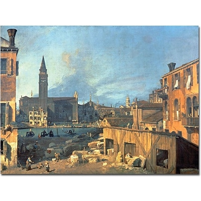 Trademark Global Canaletto Campo San Vidal and Santa Maria della Carita Canvas Art, 18 x 24