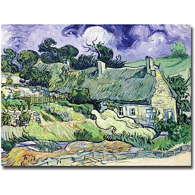 Trademark Global Vincent Van Gogh Cottages at Auvers-sur-Oise Canvas Art, 26 x 32