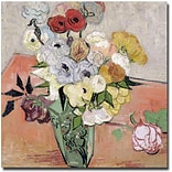 Trademark Global Vincent Van Gogh Roses and Anemones, 1890 Canvas Art, 24 x 24