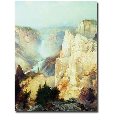 Trademark Global Thomas Moran Grand Canyon of Yellowstone Canvas Art, 35 x 47