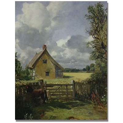Trademark Global John Constable Cottage in a Cornfield Canvas Art, 47 x 35