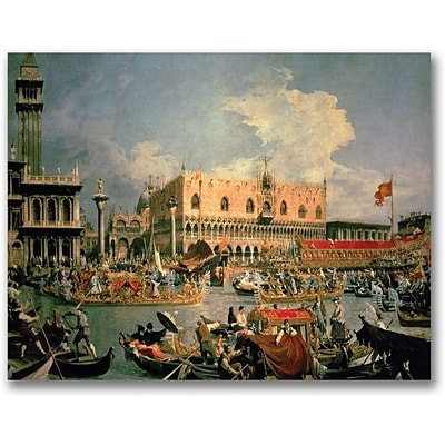 Trademark Global Canaletto Return of the Bucintoro Canvas Art, 24 x 32