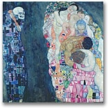 Trademark Global Gustave Klimt Death and Life Canvas Art, 18 x 18