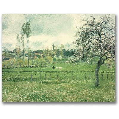 Trademark Global Camille Pissarro Meadow at Eragny, 1885 Canvas Art, 26 x 32