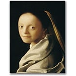 Trademark Global Jan Vermeer Portrait of a Young Woman Canvas Art, 47 x 35