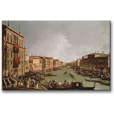 Trademark Global Canaletto A Regatta on the Grand Canal Canvas Art, 30 x 47
