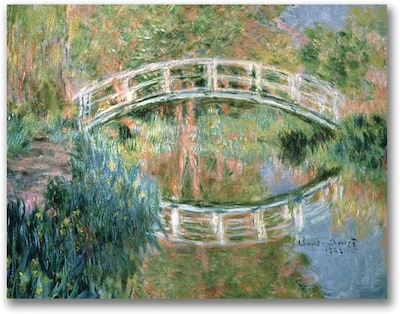 "Trademark Global Claude Monet ""The Japanese Bridge Giverny"" Canvas Art, Impressionist style, 24""x32"""