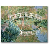 Trademark Global Claude Monet The Japanese Bridge Giverny Canvas Art, Impressionist style, 24x32