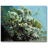 Trademark Global Gustave Courbet Flowering Branches and Flowers Canvas Art, 18 x 24
