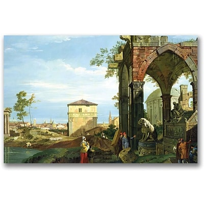 Trademark Global Canaletto Capriccio with Motifs from Padua Canvas Art, 16 x 24