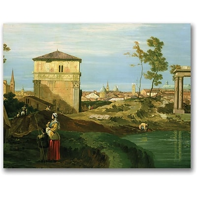 Trademark Global Canaletto Detail of Capriccio with Motifs Canvas Art, 24 x 32