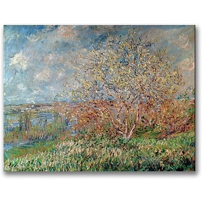 Trademark Global Claude Monet Spring 1880 Canvas Art, 35 x 47