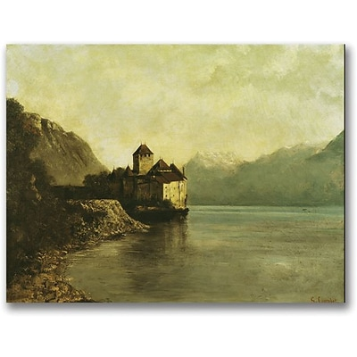 Trademark Global Gustave Courbet Chateau de Chillon 1874 Canvas Art, 35 x 47