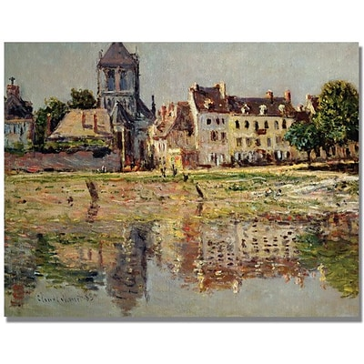 Trademark Global Claude Monet By the River at Vernon Canvas Art, 35 x 47