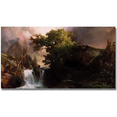 Trademark Global Thomas Moran A Mountain Stream Canvas Art, 24 x 47