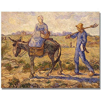 Trademark Global Vincent Van Gogh Morning Going out to Work Canvas Art, 24 x 32
