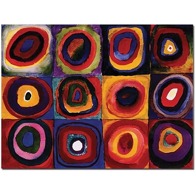 Trademark Global Wassily Kandinisky Karbstudie Quadrate Canvas Art, 18 x 24