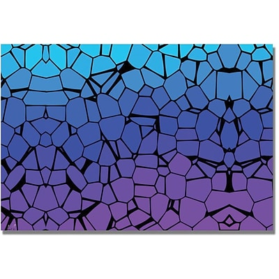 Trademark Global Crystals of Blue and Purple Canvas Art, 16 x 24