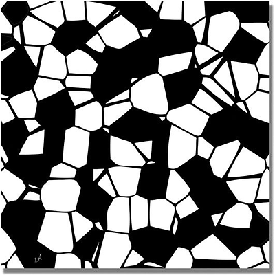 Trademark Global Crystals of Black and White Canvas Art, 18 x 18