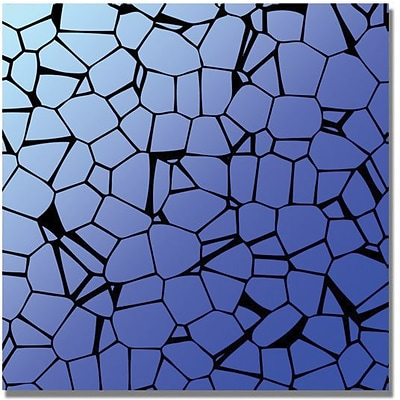 Trademark Global Crystals Blues Canvas Art, 35 x 35