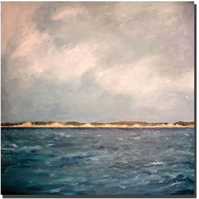 Trademark Global Michelle Calkins Dunes of Lake Michigan with Big Sky Canvas Art, 35 x 35