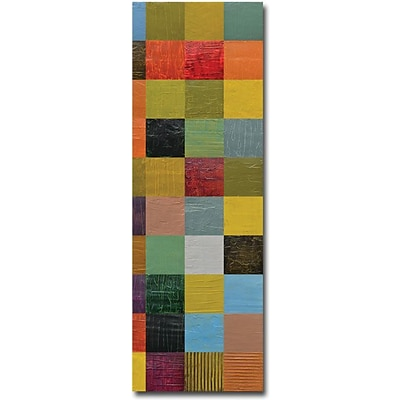 Trademark Global Michelle Calkins Collage Color Study Sketch Canvas Art, 24 x 8