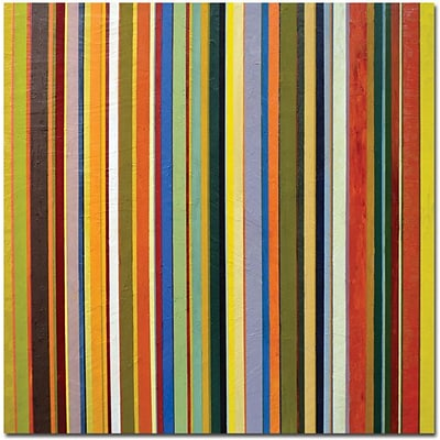 Trademark Global Michelle Calkins Comfortable Stripes Canvas Art, 18 x 18