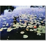 Trademark Global Michelle Calkins Water Lilies in the River II Canvas Art, 35 x 47