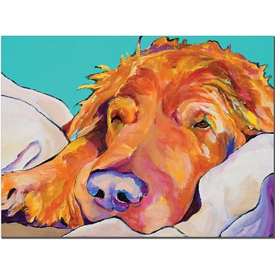 Trademark Global Pat Saunders White Snoozer King Canvas Art, 35 x 47