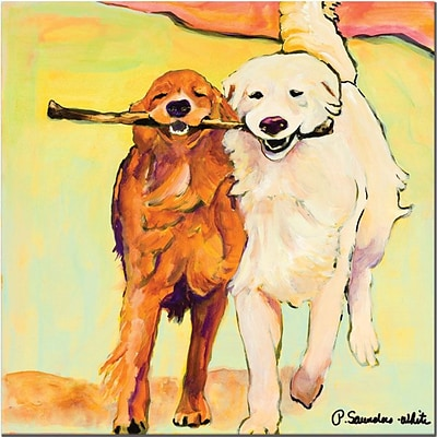 Trademark Global Pat Saunders White Stick with Me Canvas Art, 35 x 35